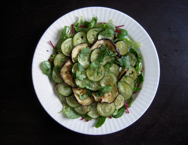 Roasted Aubergine and Courgette Salad l Add A Little