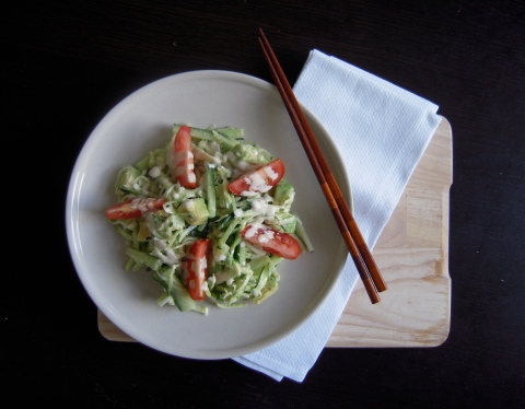 Zucchini Noodles with Tahini Dressing | Add A Little
