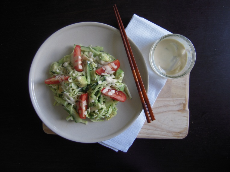 Zucchini Noodles with Tahini Dressing   Add A Little