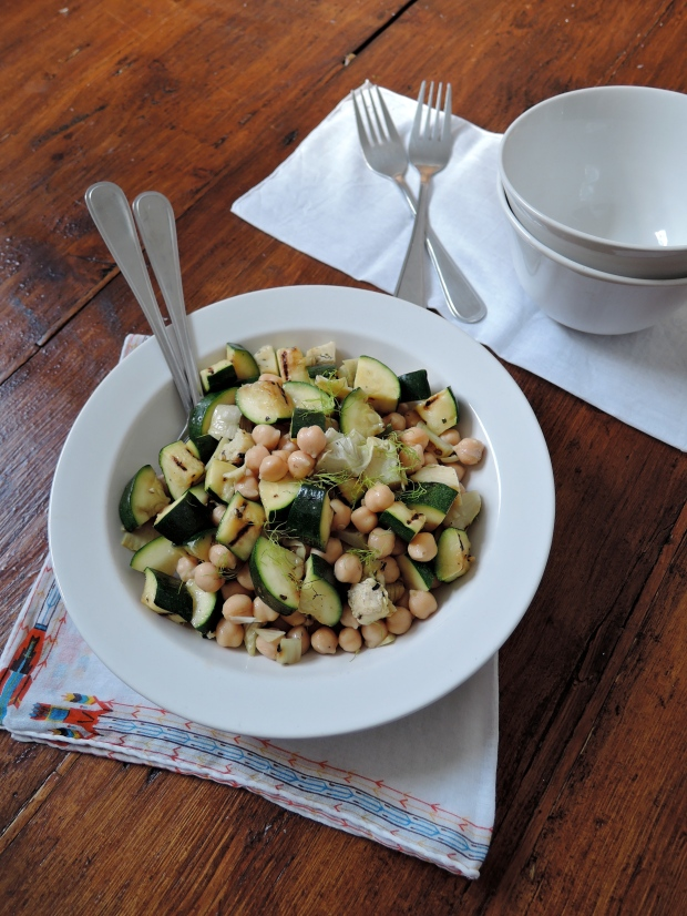 Grilled Vegetable & Chickpea Salad | Add A Little
