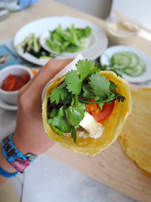 Chickpea Wraps {gluten free} | Add A Little
