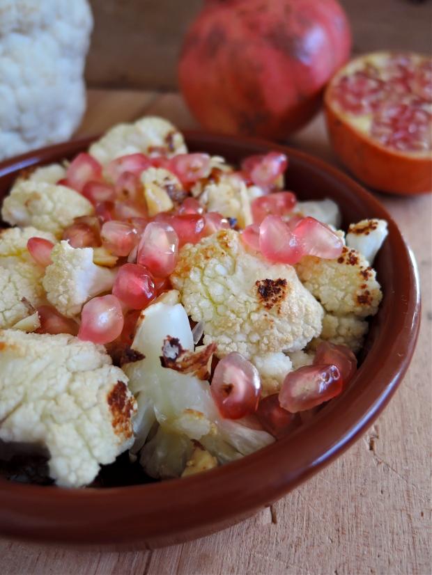 Roasted Cauliflower, Pomerganate & Hazelnut Salad | Add A Little