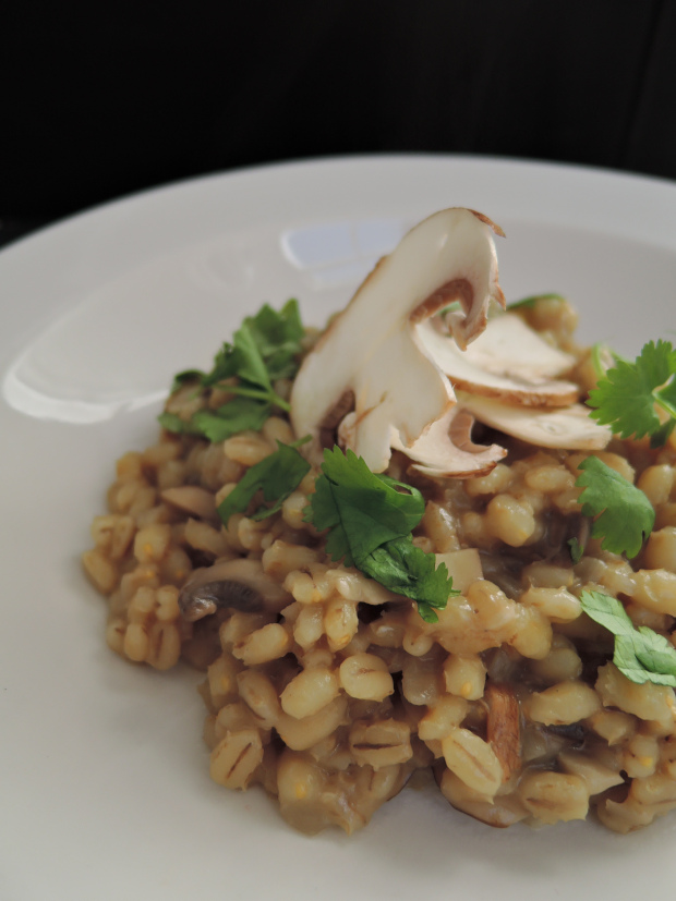 Pearl Barley Mushroom Risotto | Add A Little