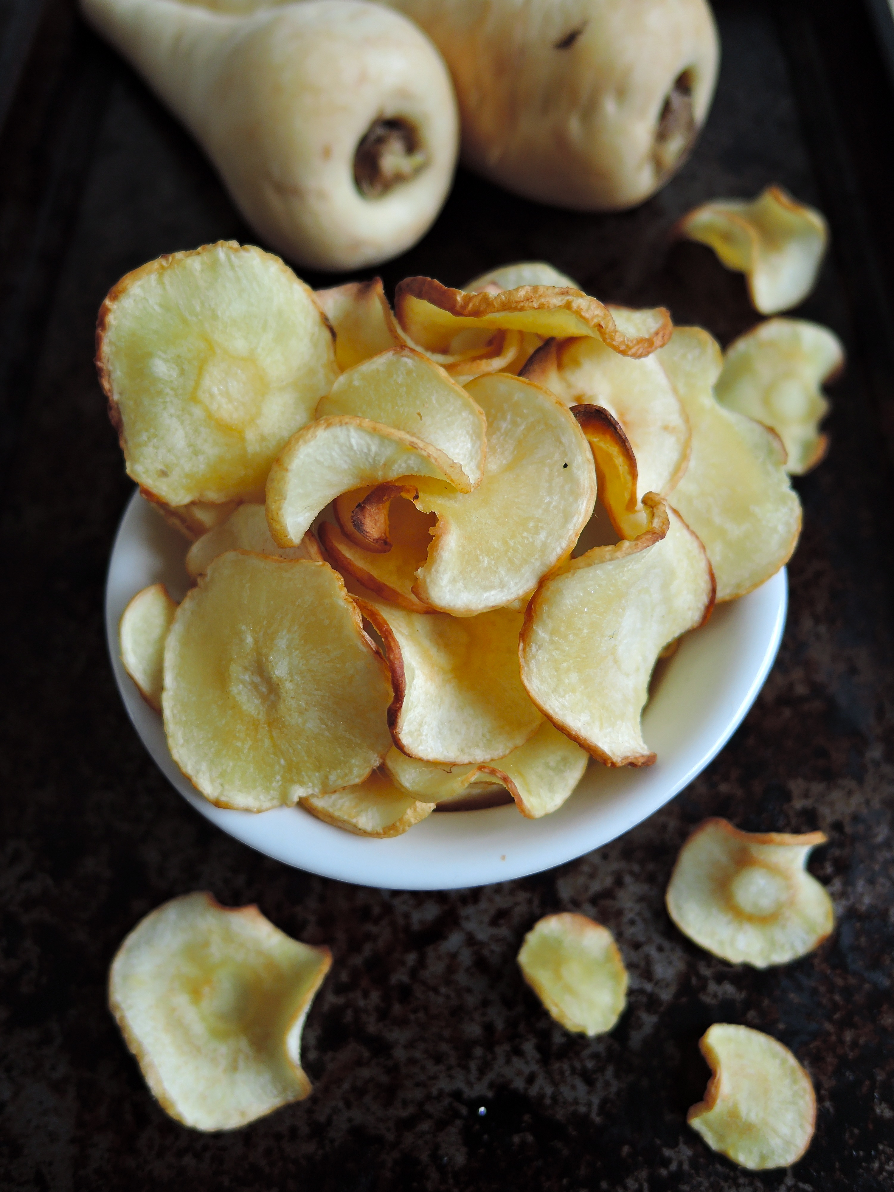 how to cook parsnip chips