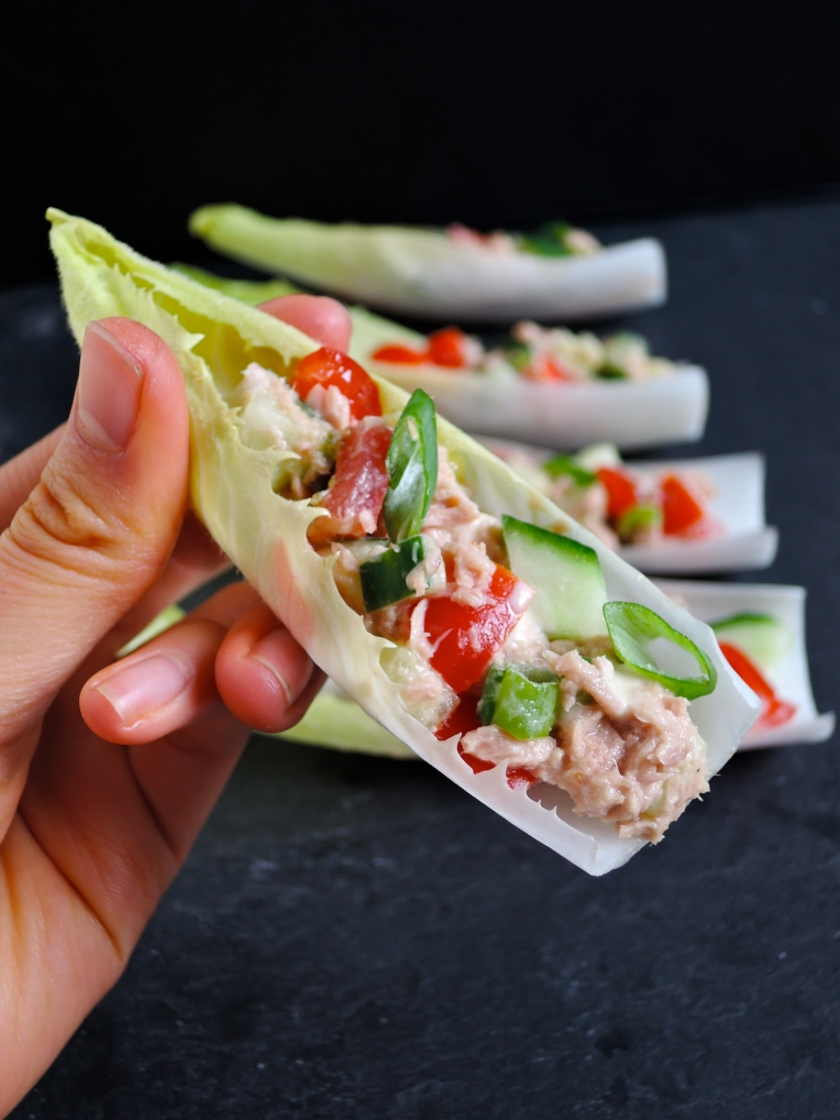 Tuna Salad in Chicory Cups | Add A Little