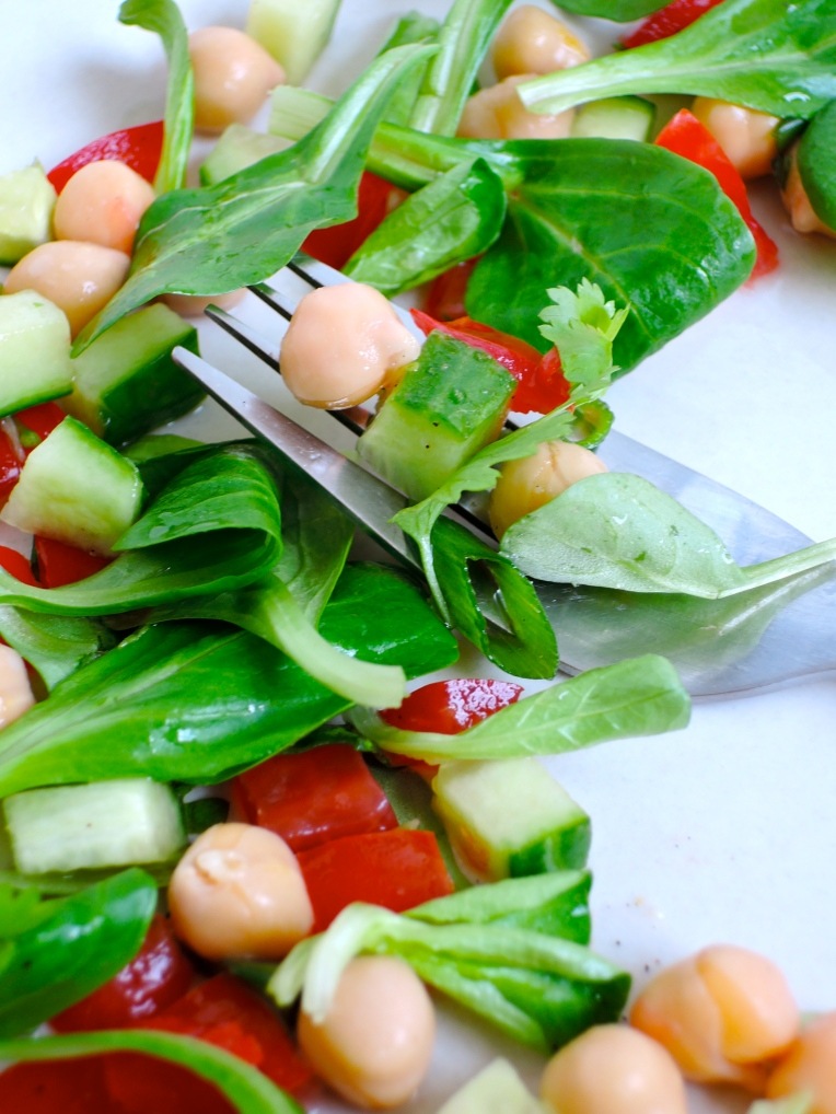 Fresh Chickpea Salad | Add A Little