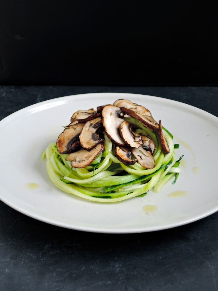 Zoodles with Sautéed Mushrooms | Add A Little