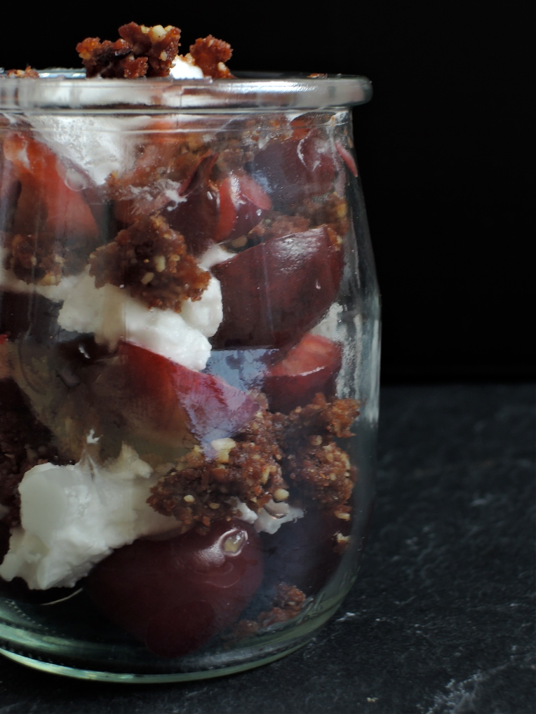 Almost Raw Vegan Black Forest Parfait