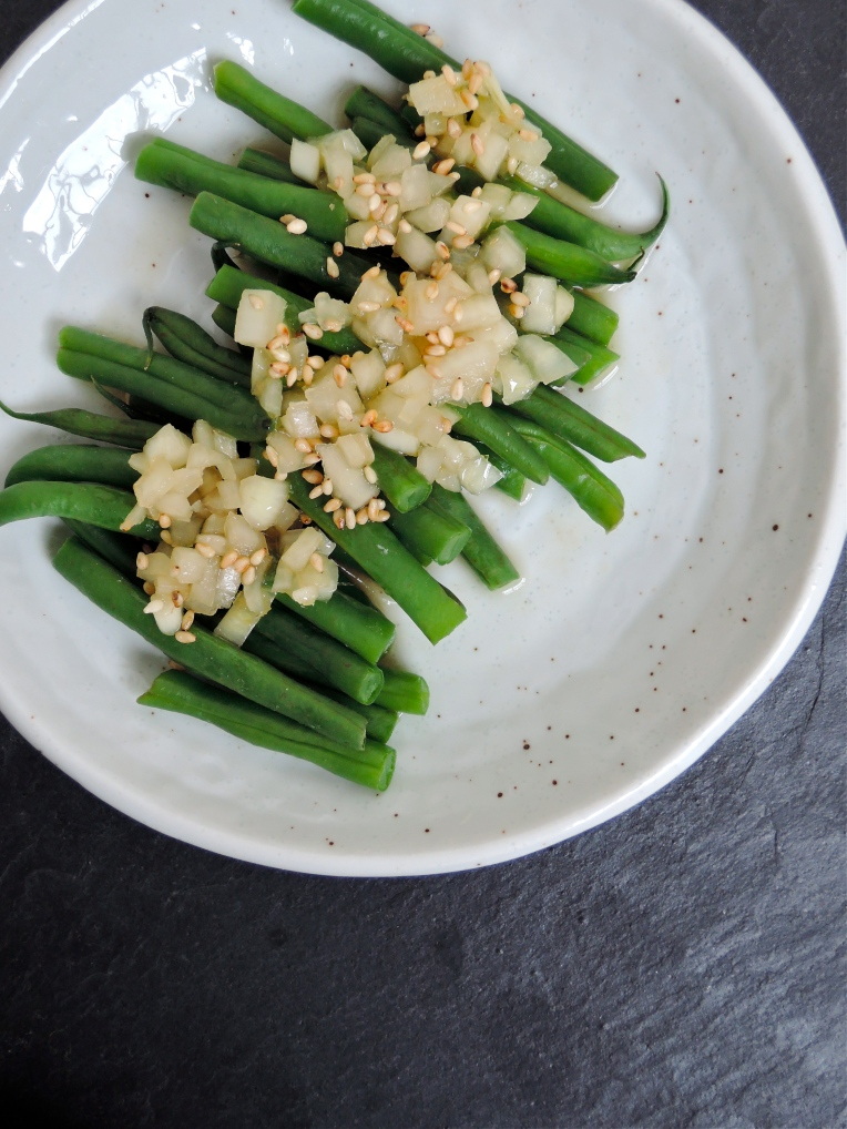 Green Bean Salad with an Asian Onion Dressing | Add A Little
