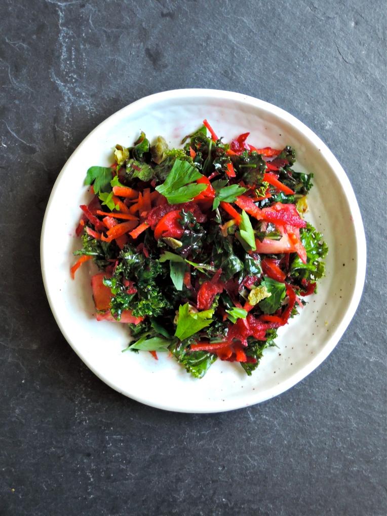 Rainbow Kale Salad | Add A Little
